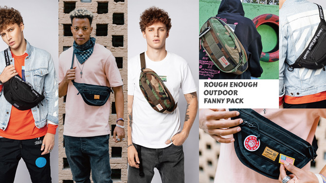 ROUGH ENOUGH OUTDOOR FANNY PACK