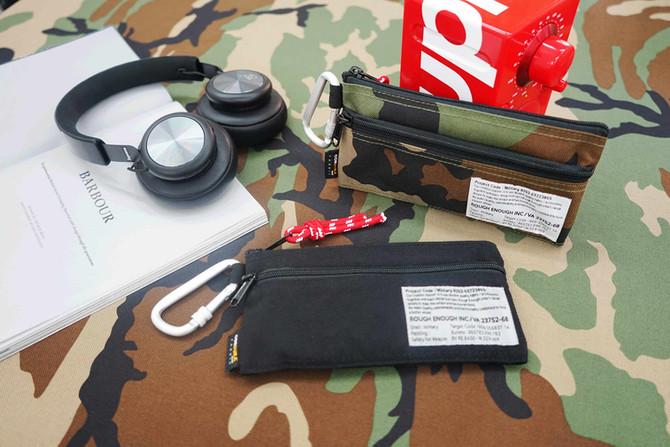 Rough Enough Multi-Purpose Military CORDURA Small Portable Clip-on Zippered Bag Cell Phone Mobile Po
