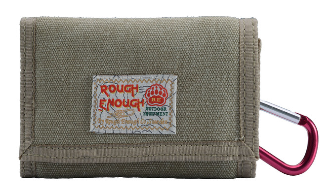 Rough Enough functional small canvas tri-fold wallet for boys teens