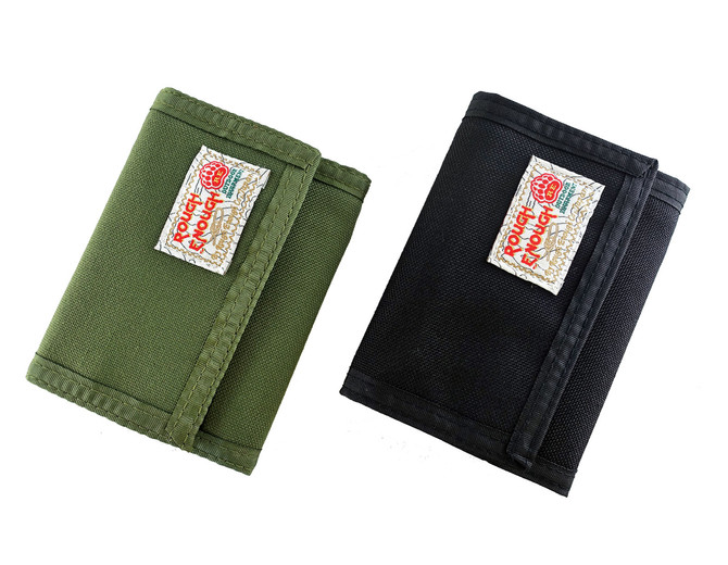 Rough Enough Multi-functional CORDURA Classic Basics Trifold Flap Big Large Portable Zippered Coin W