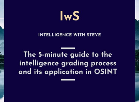 The 5-minute guide to the intelligence grading process and its application in OSINT