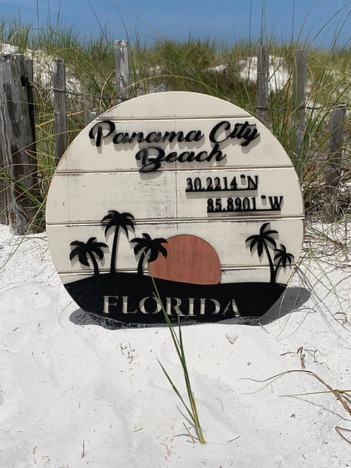 Beach Style Location Sign