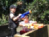 Boys nerf war birthday party