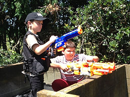 Boys nerf war birthday party