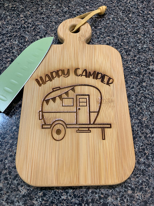 Happy Camper Cutting Board