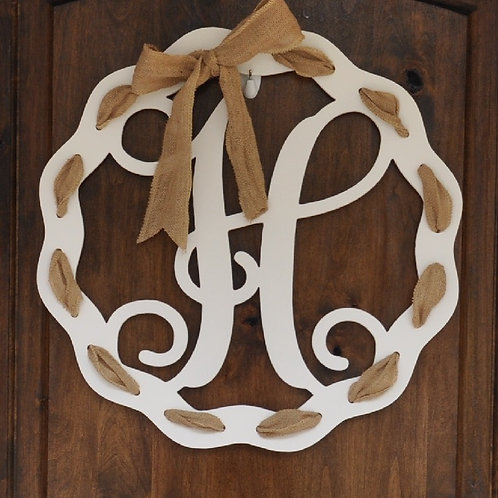 Ribbon Accent Letter Sign Wooden Sign