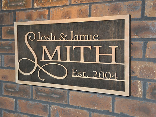 Personalized First and Last Names Sign