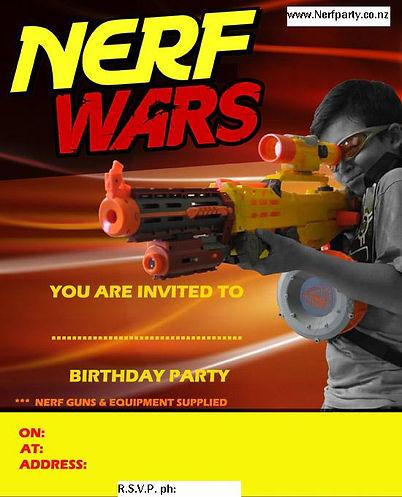 nerf war birthday party auckland