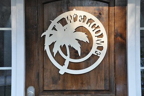 Steel Palm Tree sign