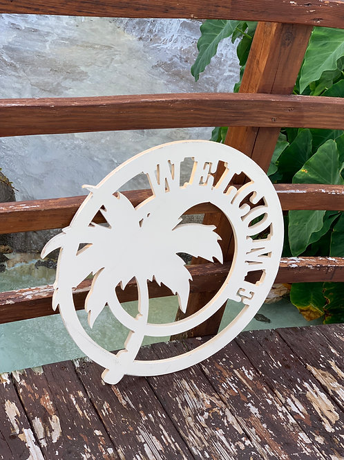 Palm Tree Welcome Sign