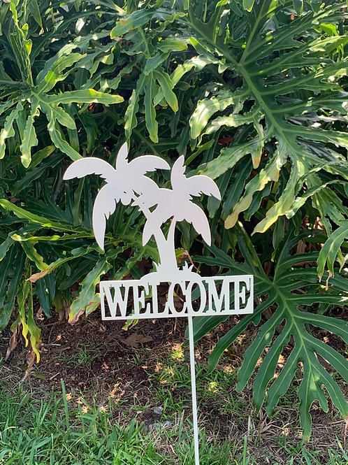 Palm Tree Welcome Yard Sign