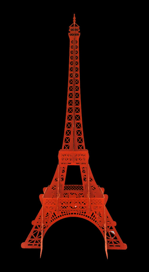 Tour eiffel rouge crayon laser atelier design laser - Tour eiffel image ...