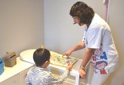 Pädiatrie-Sprachprüfung während der U9