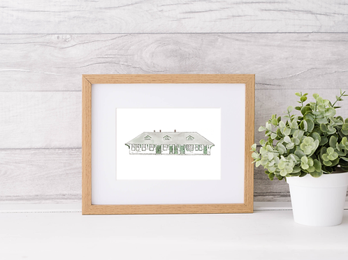 Old Train Station Print