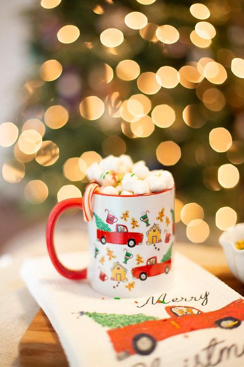 Christmas Red Truck Mug