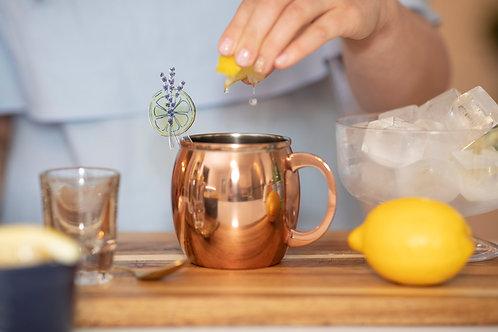Set of 4 Lemon Garnish Stirrers