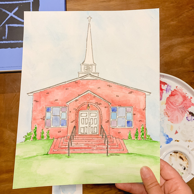 Wedding Venue Watercolor