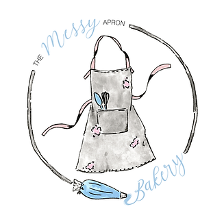 The Messy Apron logo, find out more about custom watercolor logos and branding