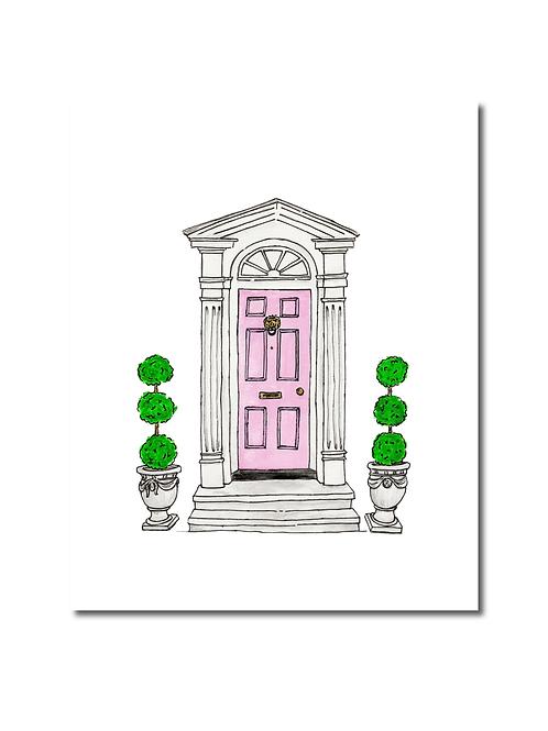 Charleston Pink Door Print