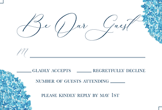 Example of RSVP card, hire Rebecca Giese for custom wedding inviations, save the dates and more!
