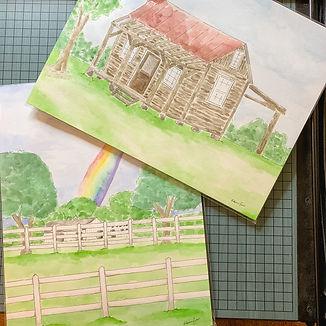 Landmark and custom watercolors painted in Hartsville, South Carolina by Rebecca Giese