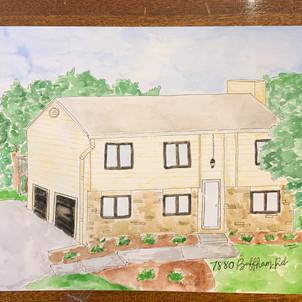 Landmark and Home watercolor