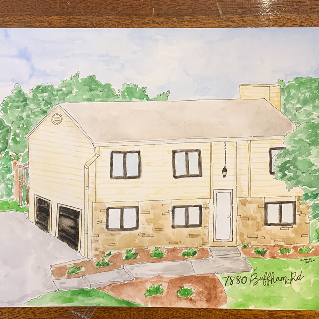 Landmark and Home watercolor