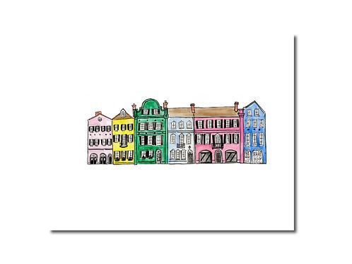 Rainbow Row Print