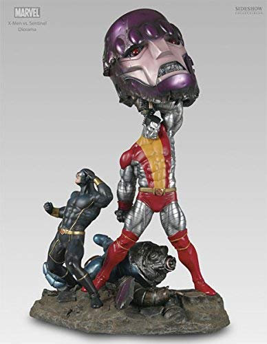 SIDESHOW X-MEN VS SENTINEL DIORAMA SERIES, 3RD X-MEN VS SENTINEL DIORAMA
