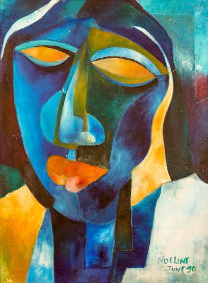Head in Blue