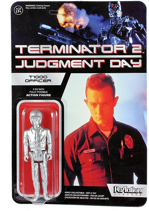 TERMINATOR 2 T-1000 METALLIC REACTION FIGURE