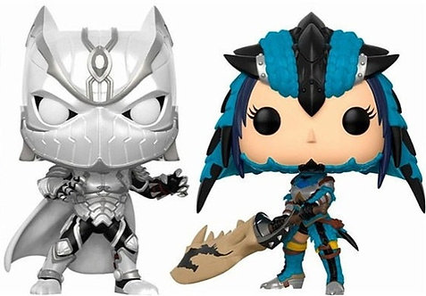 FUNKO POP! GAMES BLACK PANTHER VS MONSTER HUNTER EXCLUSIVE VINYL FIGURES