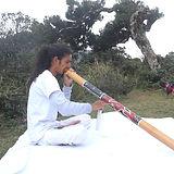 Awakasha Playing Didgerdoo and Crystal S