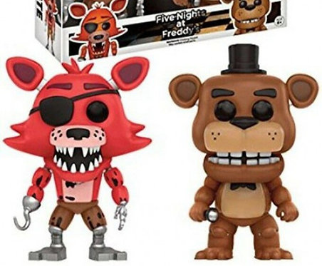 FUNKO POP! GAMES FOXY THE PIRATE WITH FREDDY EXCLUSIVE VINYL FIGURE 2-PACK