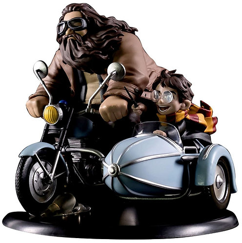 HARRY POTTER Q-FIG HAGRID and HARRY ON MOTORCYCLE 6-INCH STATUE