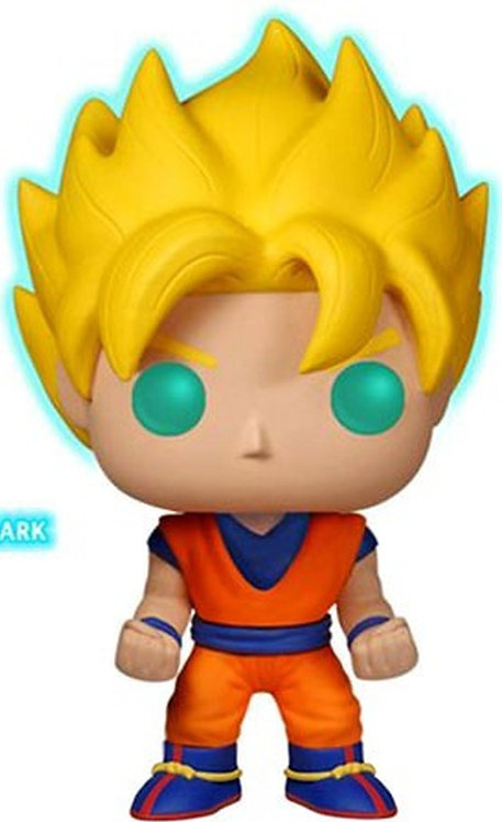 FUNKO POP! SUPER SAIYAN GOKU EXCLUSIVE VINYL FIGURE #14 [GLOW-IN-THE-DARK]