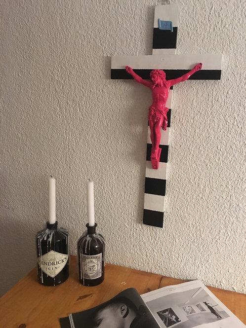 Zebra Jesus (Pink, Schwarz, Weiß) (K5)
