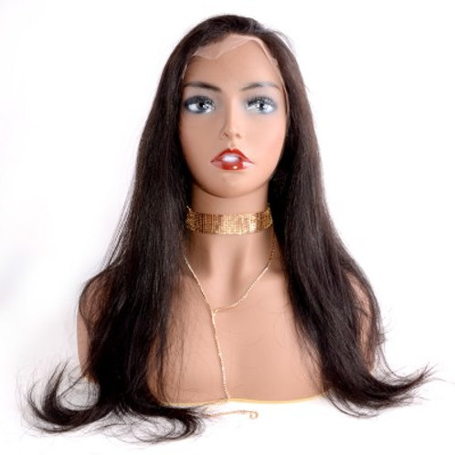 Undetectable Transparent Full Lace Wig 150%12-22 Inch Straight