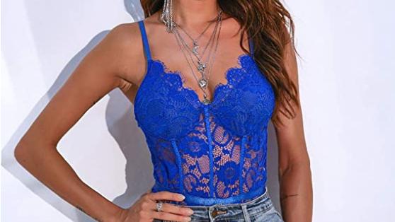 lingerie top/ blue
