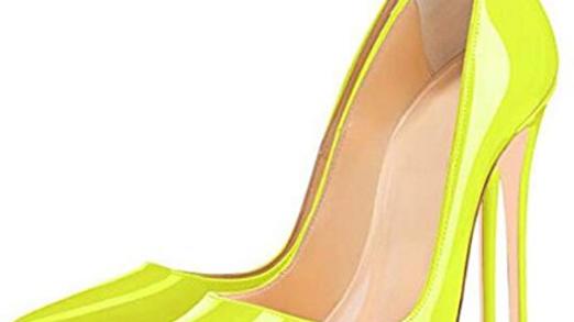 lime lush high heels