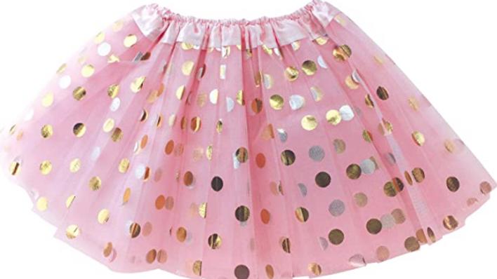 glitter pink show girl tutu