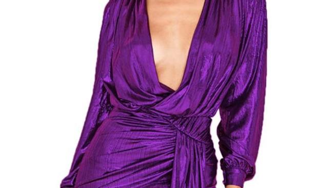 purple glam dress