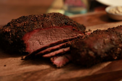 Home Cooked Grass Fed Organic Brisket Big Green Egg