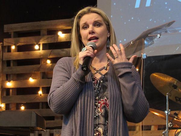 Kelly speaking at PerryOK