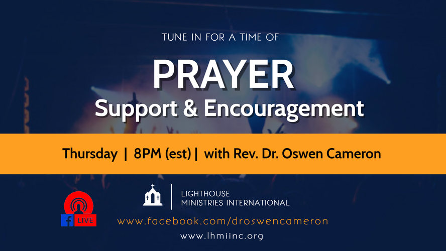 Prayer Time with Dr Cameron (Thurs) -jel
