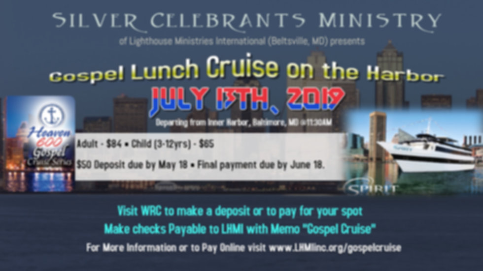 Silver Celebrants Gospel Lunch Cruise 7.