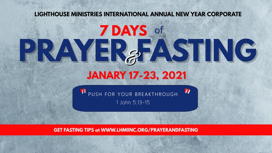 LHMI ANNUAL NEW YEAR CORP Prayer  Fastin
