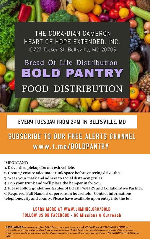 CDCHOHE-BOLD Pantry Weekly Distribution