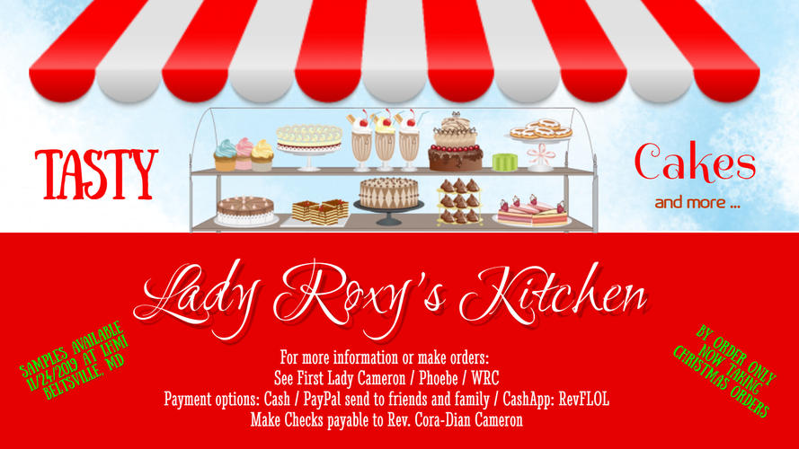 Lady Roxys Kitchen Cake - TV poster2019.