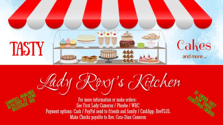 Lady Roxys Kitchen Cake - TV poster2019.